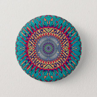 Creative Concentric Abstract 2 Inch Round Button