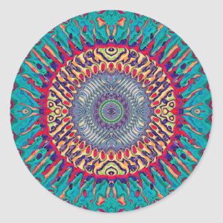 Creative Concentric Abstract Classic Round Sticker