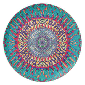 Creative Concentric Abstract Plate