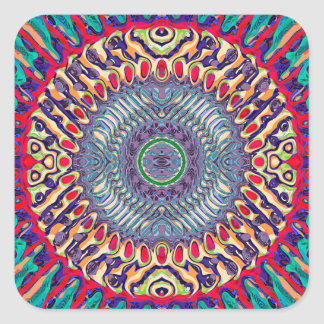 Creative Concentric Abstract Square Sticker