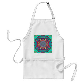 Creative Concentric Abstract Standard Apron