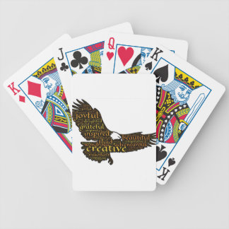 Creative eagle bicycle playing cards