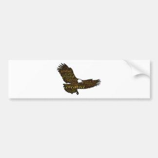 Creative eagle bumper sticker
