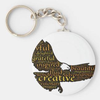 Creative eagle keychain