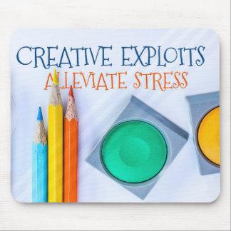 Creative Exploits Alleviate Stress Mouse Pad