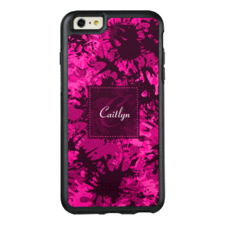 Creative & Fun Abstract Pink Paint Monogram OtterBox iPhone 6/6s Plus Case