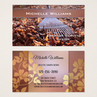 Creative Garden Design Landscaping Business Card