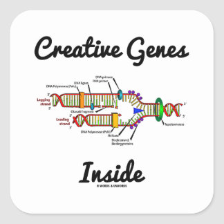 Creative Genes Inside (DNA Replication) Square Sticker