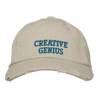 Creative Genius Embroidered Hats