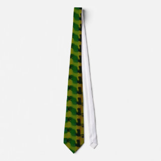 Creative Green Yellow Abstract Tie