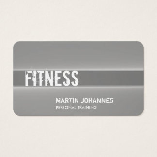 Creative Grey Personal Trainer Sport Business Card