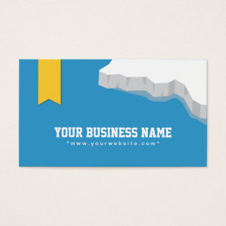 Creative Iceberg & Blue Sea illustration Business Card