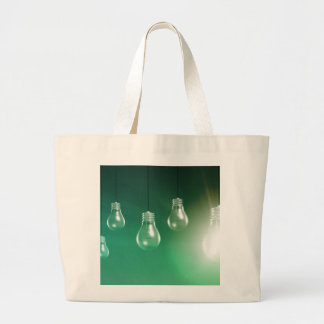 Creative Innovation and Glowing Concept as a Art Large Tote Bag