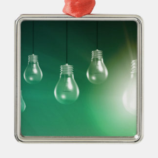Creative Innovation and Glowing Concept as a Art Metal Ornament