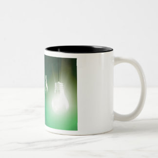 Creative Innovation and Glowing Concept as a Art Two-Tone Coffee Mug
