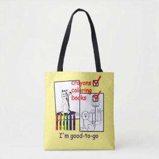 Creative Kids Crayon Good to Go Backpack Tote Bag