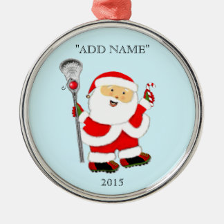 Creative Lacrosse Christmas Silver-Colored Round Ornament