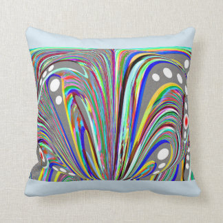 Creative lines throw pillow