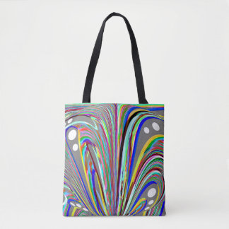 Creative lines tote bag