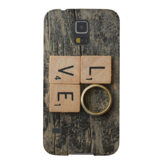 Creative Love Word with Srcabble Elements Galaxy S5 Cover