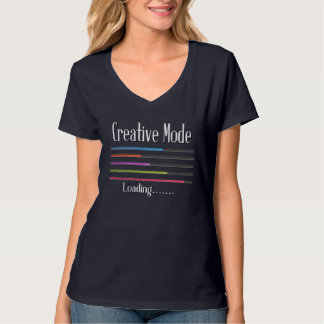 Creative Mode Loading Artist V-Neck T-Shirt