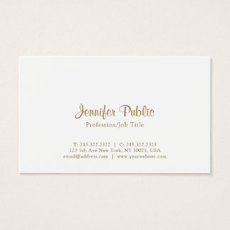 Creative Modern Elegant White Simple Business Card