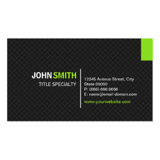 Creative Modern Twill Grid - Black and Mint Green Business Card Template