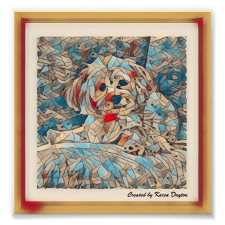 "Creative Mosaic Image of a Morkie ""Copper"" Photograph"
