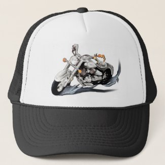 Creative Motorcycle Trucker Hat
