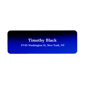 Creative Night Blue Elegant Plain Modern Style Return Address Label