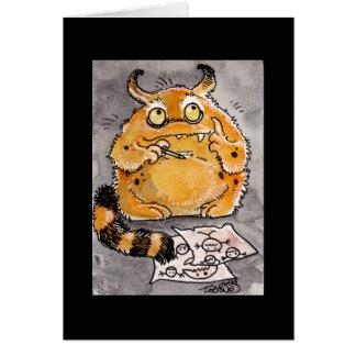 Creative Orange Monster Notecard