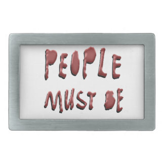 CREATIVE PEOPLE MUST BE STOPPED RECTANGULAR BELT BUCKLE