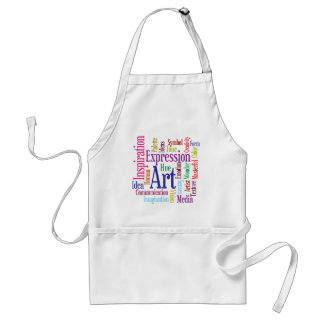 Creative Person's Art and Inspiration Word Cloud Standard Apron