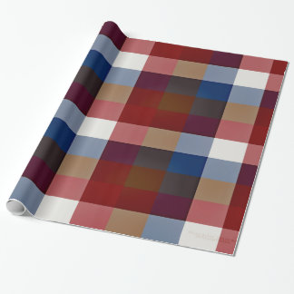Creative Plaid Mixes Wrapping Paper
