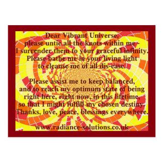 Creative Postcard 5 - Dear Vibrant Universe Prayer