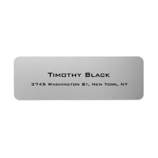 Creative Professional Digital Silver Grey Modern Return Address Label