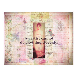 Creative quote about artists by Jane Austen Postcard