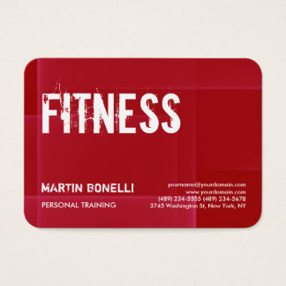 Creative Red Dynamic Personal Trainer Sport Trendy Business Card
