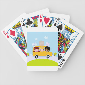 Creative t-shirts with Bus Bicycle Playing Cards