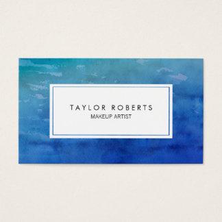 Creative Watercolor Blue Makeup Artist Pattern Business Card