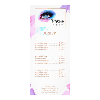 Creative Watercolor Eye Makeup Artist Rack Card