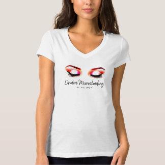 Creative Watercolor Eyebrows Microshading T-Shirt