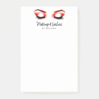 Creative Watercolor Eyes Makeup/Lashes Post-it Notes