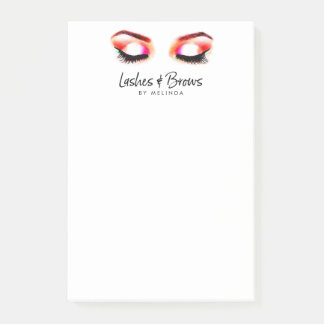 Creative Watercolor Lashes/Brows Post-it Notes