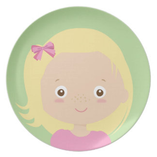 creative with food - melamine plate for girl