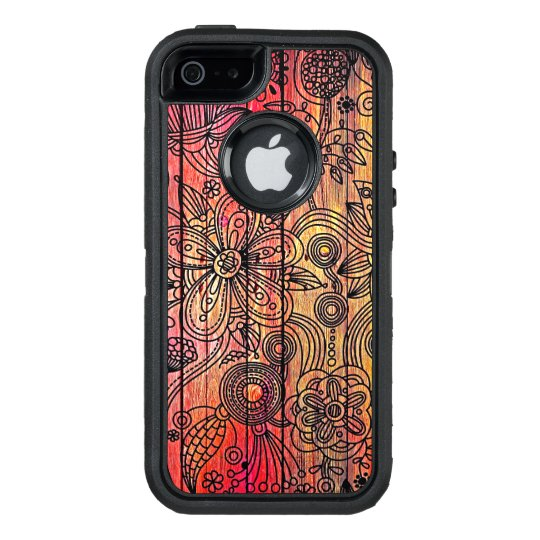 Creative Wooden Texture OtterBox iPhone 5/5s/SE Case