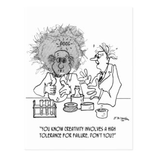 Creativity Cartoon 1868 Postcard