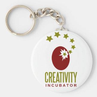 creativity incubator basic round button keychain