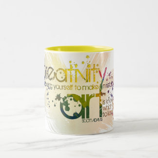 creativity is allowing yourself to make mistakes Two-Tone mug