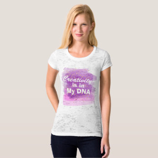 Creativity is in my DNA Purple Paint Strokes T-Shirt